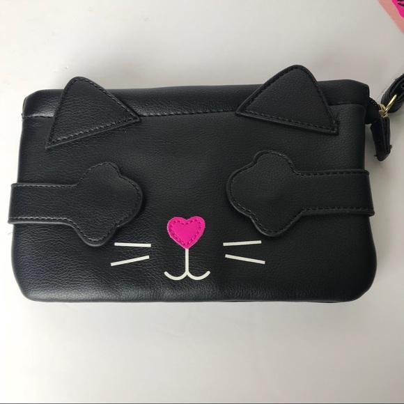 581cca52b1a Betsey Johnson Bags | Black Cat Wristlet | Poshmark